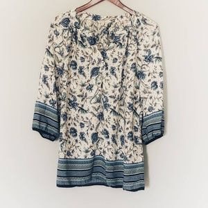 Rose & Thyme Plus Gorgeous Floral Blouse